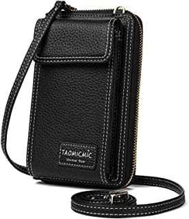 Best Women Crossbody Cell Phone Bag Small Shoulder Purse Leather Travel RFID Card Wallet Case Handbag Phone Pocket Baggap Clutch for iPhone 11 Se 2020 11 Pro Xr X Xs Max 8/7/6 Plus Samsung (Black) Review
