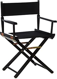 Casual Home Director's Chair ,Black Frame/Black Canvas,18