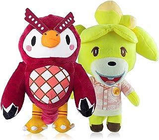 Animal of Crossing Merchandise Plush,Owl Celeste Stuffed Animal and Goat Isabelle Plush Blathers Plush(Celeste&Isabelle)