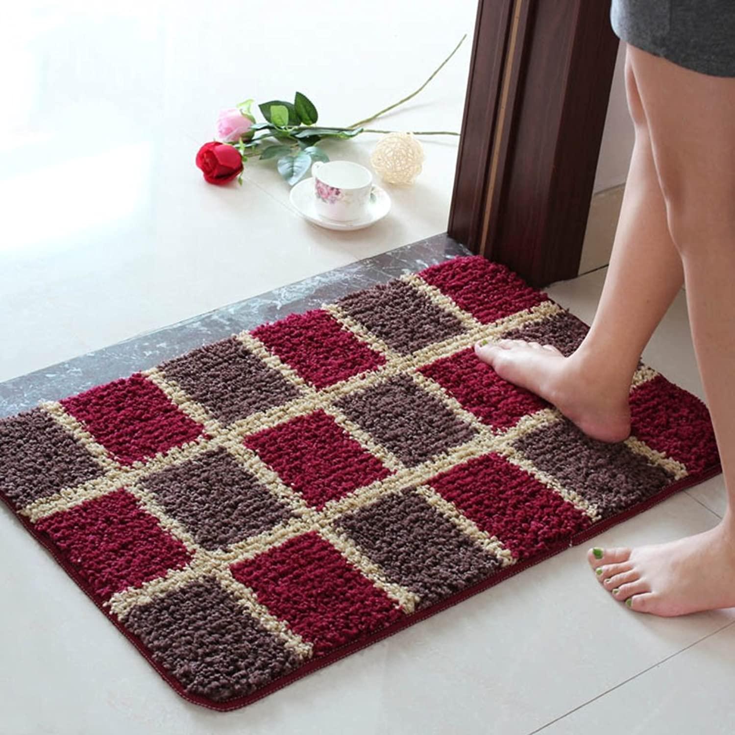 Doormat Anti Slip Rug Baby Room Soft Floor Door Ground mat Water Absorption pad Bathroom Bedroom Living Room Door entrances Patio Entry Ways Footcloth-A 31  47inch(80x120cm)