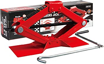 BIG RED T10152 Torin Steel Scissor Lift Jack Car Kit, 1.5 Ton (3,000 lb) Capacity, Red