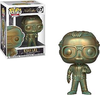 Stan Lee [Patina]: Funko POP! Iconos Vinilo Figura & 1 POP! Paquete de protectores gráficos de plástico PET compatibles [#007/40744 – B]