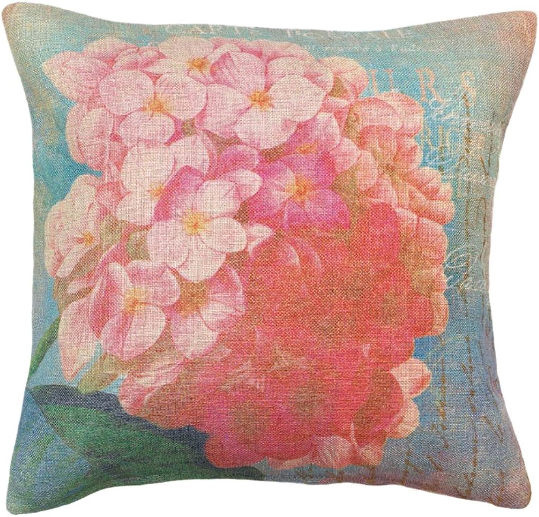 StealStreet SS-EG-10017124 17  Pink Hydrangea Throw Pillow
