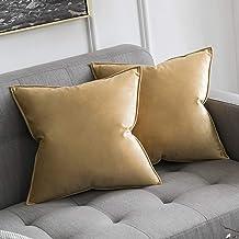 MIULEE Poszewka na poduszkę, aksamitna, dekoracyjna, zawinięte krawędzie, ozdobna, na sofę, do salonu i sypialni, 50 x 50 ...