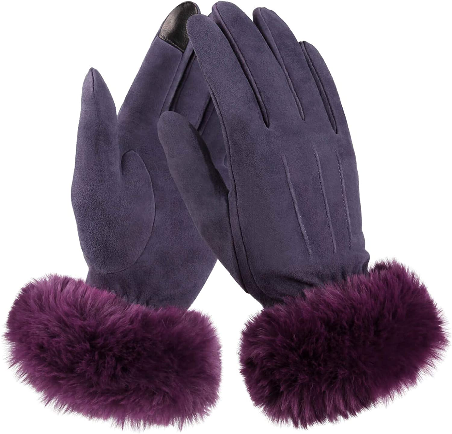 Winter Touch Screen Gloves Deerskin Leather Thermal Cashmere Warm Gift for Women
