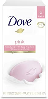 Dove Beauty Bar Gentle Cleanser For Softer and Smoother Skin Pink More Moisturizing Than Ordinary Bar Soap 3.75 oz 6 Bars