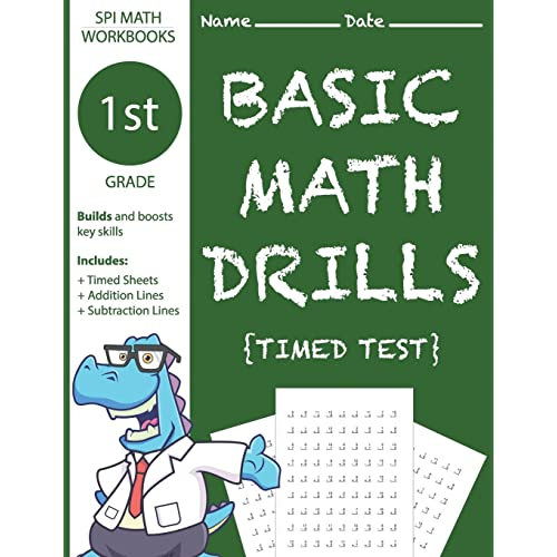 1st Grade Basic Math Drills Timed Test: Builds and Boosts Key Skills ...