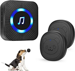 SIARY Dog Door Bell Wireless Doggie doorbells for Potty Training with Warterproof Touch Button Dog Bells Included Receiver and Transmitter