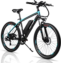 Rattan 26 Inch Mountain Electric Bicycle 36V/10.4AH Removable Lithium-ion Battery Electric Bike for Adult Smart IPAS Assisted System 350W E-Bike 7 Speed Shifter