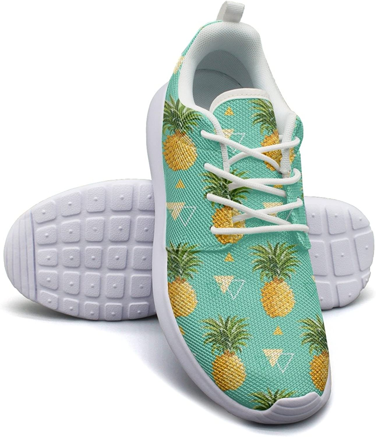 Geometric Pineapple Background Women's Fashion Tennis shoes Casual Mesh Lightweight Athletic Sneakers