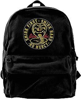 NJIASGFUI Cobra Kai Karate Dojo Mochila de lona para gimnasio, senderismo, portátil, bolso de hombro para hombres y mujeres