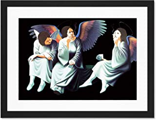 Doppelganger33 LTD Music Album Cover Black Sabbath Heaven Hell Smoking Angels Large Art Print Poster Wall Decor 18x24 inch Supplied Ready to Hang