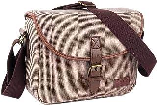 Neuleben Klein Kameratasche für Spiegelreflex Systemkamera SLR DSLR Tasche Fototasche Vintage Messenger Umhängetasche Damen Herren Khaki