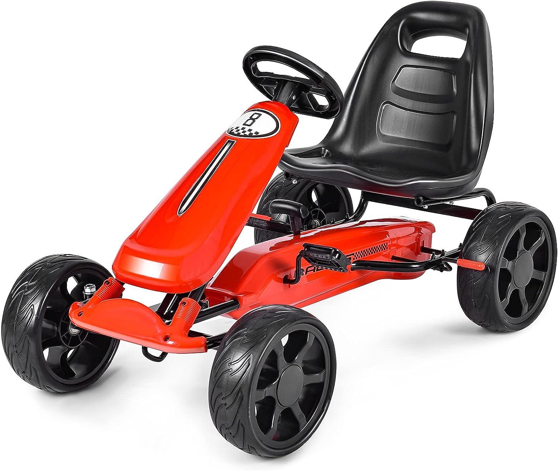 Los Angeles Mall HONEY JOY Pedal Go Kart 4-Wheel w On Car 2-Position New life Ride