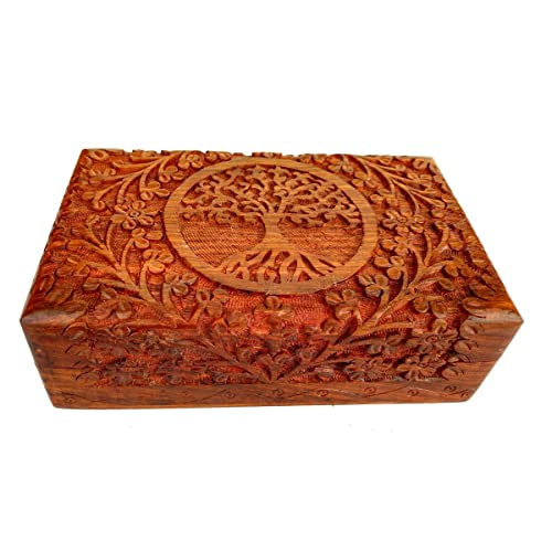 Carved wooden box: amazon.co.uk