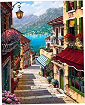 Magideal DIY Digital Painting By Numbers Kit Unframed Mediterranean Style on Canvas Painting for Drawing Learning - #5, as described