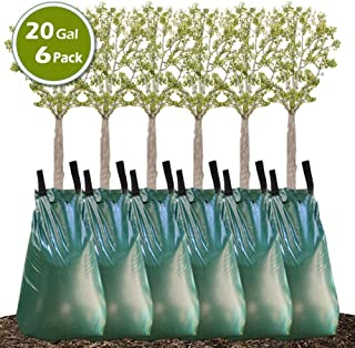 Remiawy Tree Watering Bag, 20 Gallon Slow Release Watering Bag for Trees, Tree Irrigation Bag Made of Durable PVC Material with Zipper (6 Pack 5-8 Hours Releasing Time)
