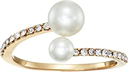 GUESS - Pearl and Crystal Bypass Ring