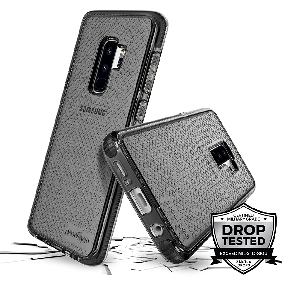 Prodigee [Safetee] for Samsung Galaxy S9 Plus Cover Protective case Smoke Gray Grey Clear Transparent 2 Meter Military Grade Certified Drop Shock Test