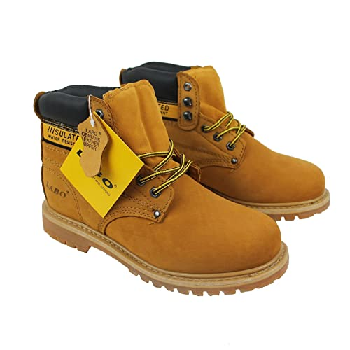 267671ad4d8b2 LABO Men's Genuine Leather Work Boot in 5 Style by CITISHOESNYC Tan