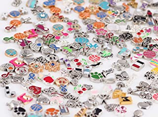 Miraclekoo 100 Pcs Floating Charms Assorted Mix DIY for Floating Lockets Glass Living Memory Lockets