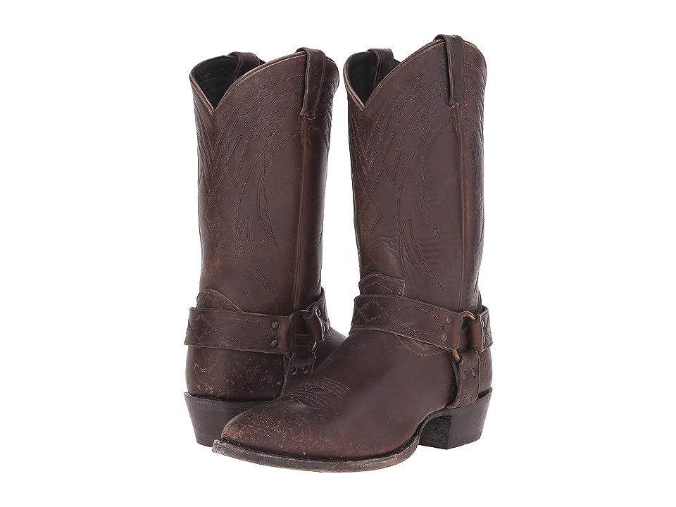 Frye Billy Harness (Espresso Polished Stonewash) Cowboy Boots