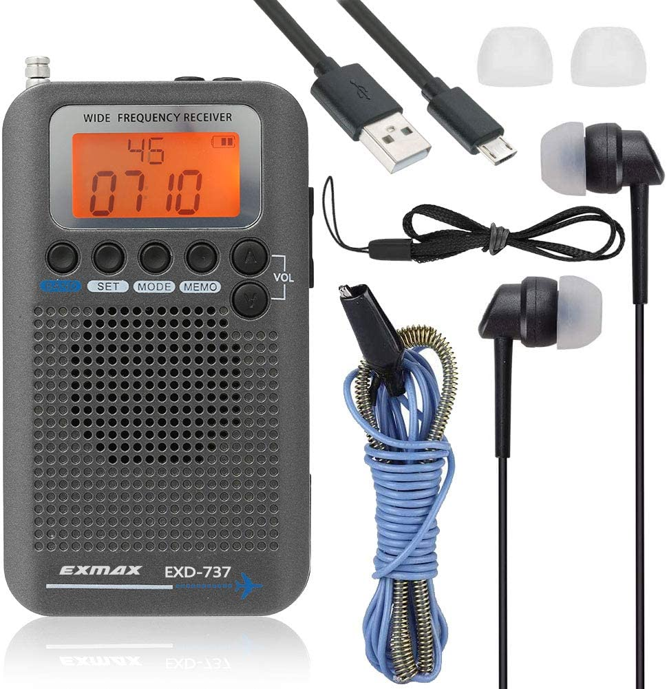 EXMAX EXD-737 Aviation FM AM SW Shortwave Receiver Seasonal Wrap Introduction NO Fixed price for sale Band Radio