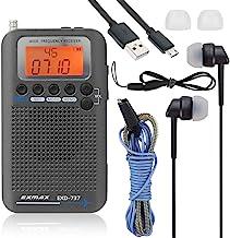 EXMAX EXD-737 Aviation FM/AM/SW/Band Shortwave Radio Receiver NOAA Weather Radios VHF..