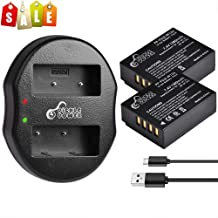 Replacement for Fujifilm X100F Battery, Pickle Power 2 Pcs NP-W126s, NP-W126 Batteries and Dual Slots USB Charger for X-T3 X-T10 X-T20 X-T30 X-T100 X-H1 FinePix HS33EXR HS50EXR (1380mAh, 7.4V)