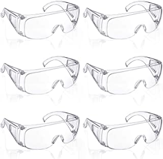 Safety Goggle Glasses Anti-Fog Protective Polycarbonate Eyewear Clear Safety Goggles with Impact Resistant Lens for Constr...