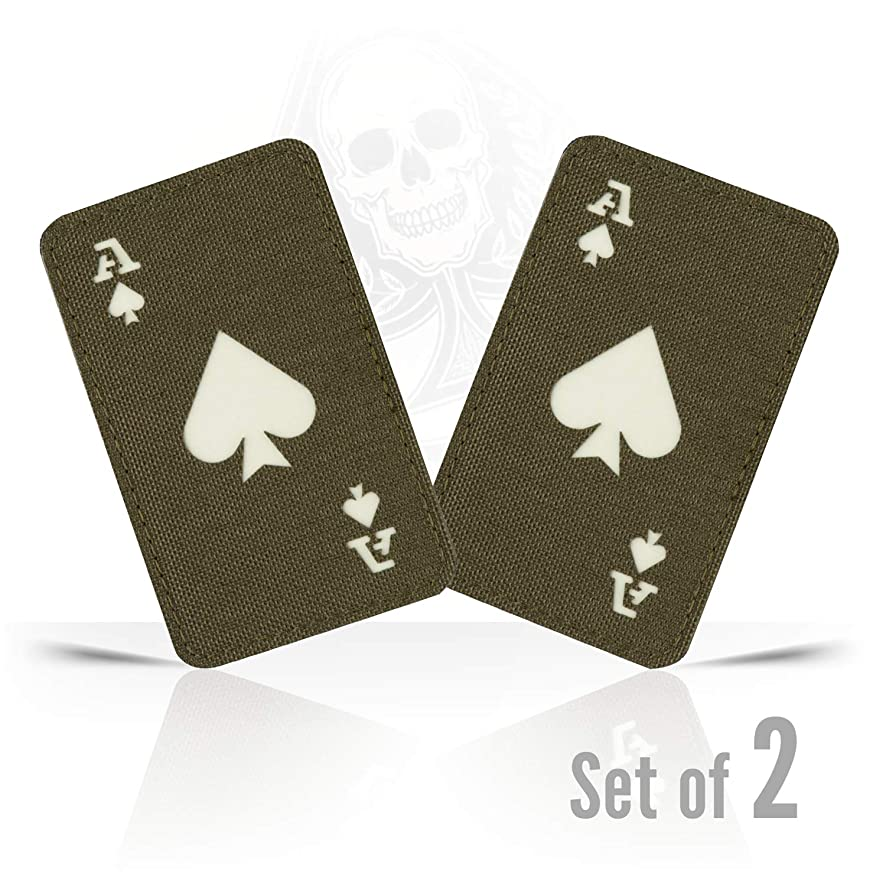 M-Tac Ace of Spades Death Card Tactical Morale Patch Army Combat Hook Fasteners