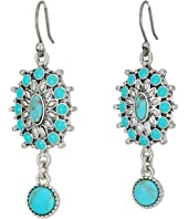 Lucky Brand - Turquoise Squash Blossom Earrings
