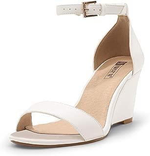 Women's IN3 Ankle Strap Low Heel Wedge Sandals Open Toe Dress Evening Shoes