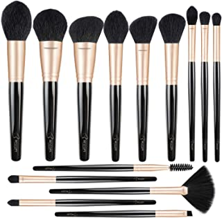 Professional Makeup Brushes Premium Synthetic Cosmetic Brush Set Kit for Blending Foundation Powder Blush Concealer Highli...