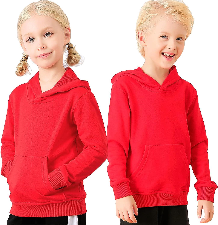 ALALIMINI Boys&Girls Hoodies Toddler Kids Cotton Hooded Pullover Sweatshirts