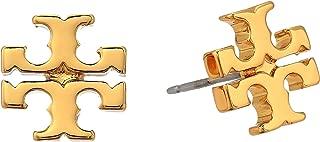 Women's Gold Stud Logo Earrings