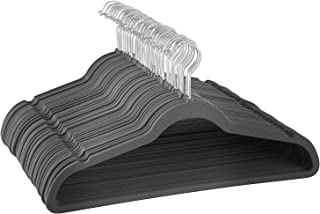ZOBER Non-Slip Velvet Hangers - Suit Hangers (100-pack) Ultra Thin Space Saving 360 Degree Swivel Hook Strong and Durable Clothes Hangers Hold Up-to 10 Lbs, for Coats, Jackets, Pants, Dress Clothes