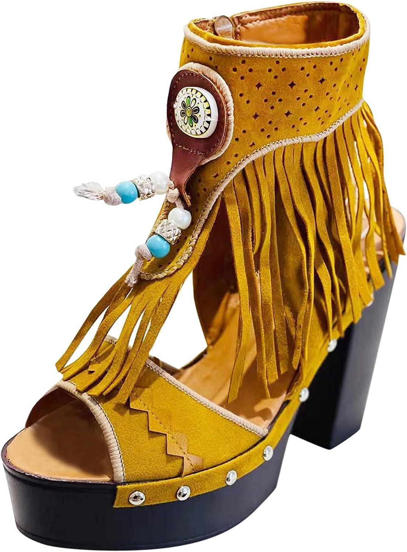 USYFAKGH Flat Wedge Sandals For Women Summer Platform Sandals La