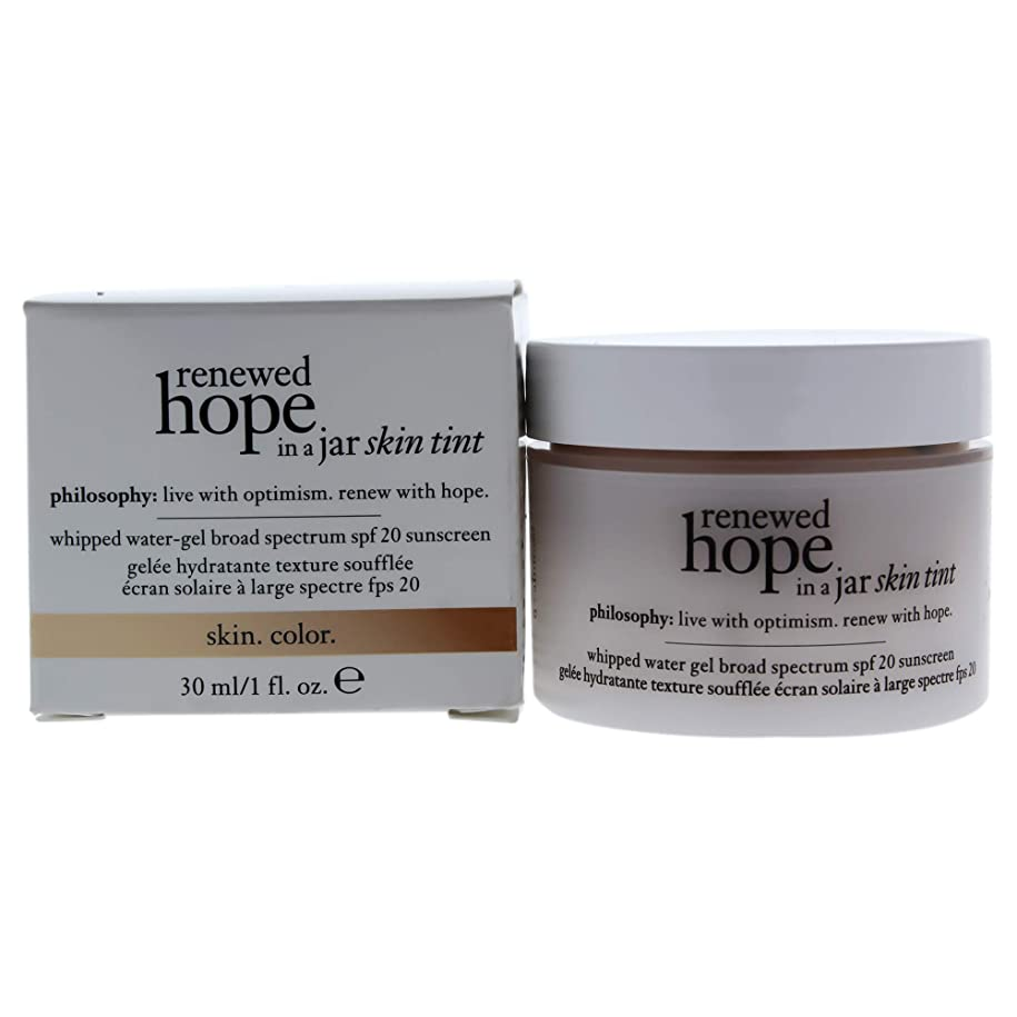 何故なのハッピー代名詞フィロソフィー Renewed Hope In A Jar Skin Tint Whipped Water Gel SPF 20 - # 6.0 Almond 30ml/1oz並行輸入品