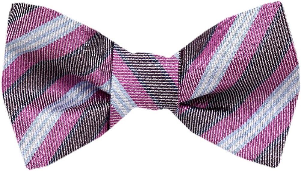 FBTZ-1279 - Men's Silk Self Tie Bowtie Tie Yourself Bow Ties