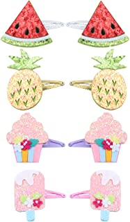 Candygirl 8 Pack Girls Snap Hair Clips Girls Hair Bows Clips Hair Barrettes For Girls