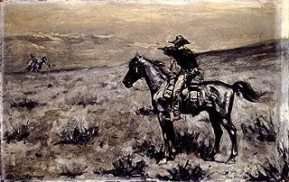 Frederic Remington The Lone Rider Circa 1890 : Art Print