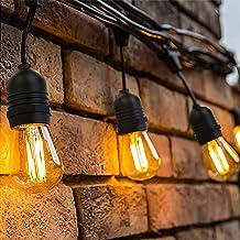 LED Lichtketting Buiten, OxyLED Lichtketting Lamp LED Retro, 39M IP65 Waterdicht,40X1W LED Lampen Warm wit 2500K Voor Binn...