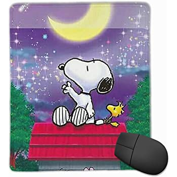 9.9x11.8IN,25x30CM Mouse Pad Snoopy and Woodstock in Space Computer Mouse Mat
