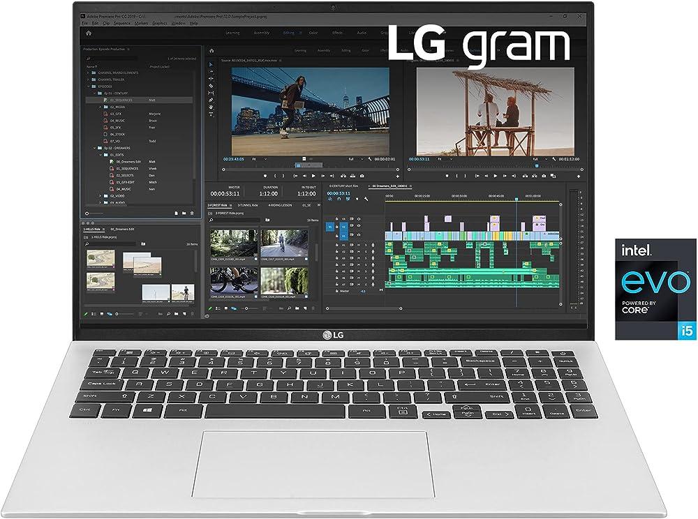 Lg pc portatile intel core i5 intel iris xe ram 8gb ddr4 ssd 512gb monitor 16 pollici LG Gram 16Z90P