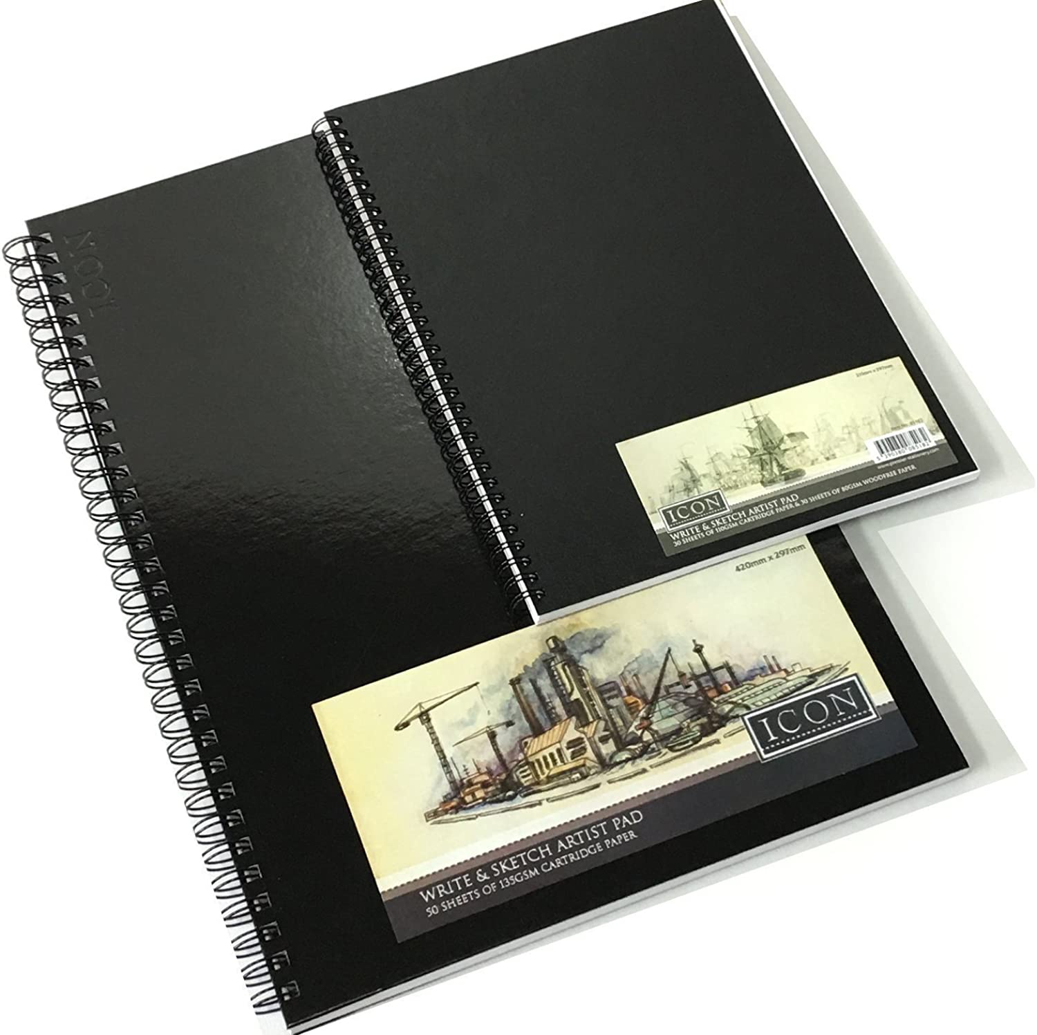 A3 A4 A5 Sketch Book Pad Weiß Cartridge Paper schwarz Hardback Spiral Bound New (A3) B01N12S4S0  | Charmantes Design