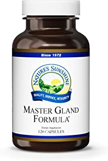 Nature's Sunshine Master Gland, 120 Capsules | Provides Complete Nutritional Support for Every Gland in The Body, Helps Support Energy Metabolism