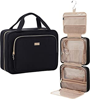NISHEL 4 Sections Hanging Travel Toiletry Bag Organizer, Water Resistant Large Makeup Cosmetic...