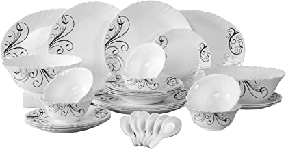 Royalford Opal Ware Dinner Set, 34 Pcs, Multi-Colour