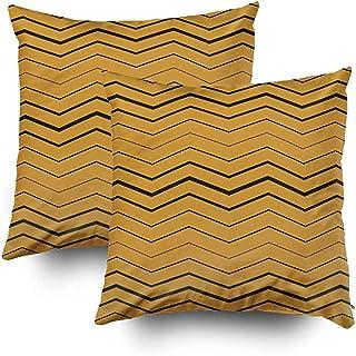 Ducan Lincoln Pillow Case 2PC 18X18 PulgadasFunda De Almohada, Fundas De Almohada para Sofá Patrón Zigzag Vector Arte Abstracto Telón De Fondo Fondo Banner Negocio Navidad Cla Square
